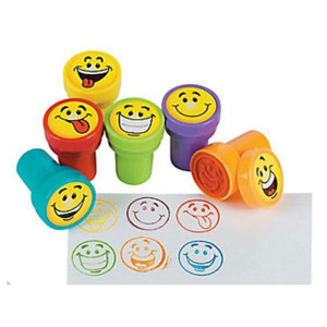 Goofy Smile Face Stamps-6 Pack