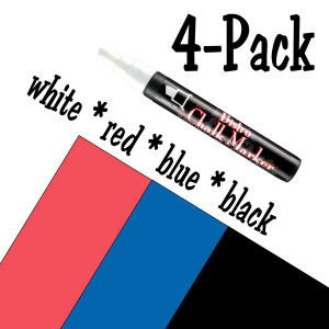 Bistro Chalk Marker Set- Basic Set, 4 Pack