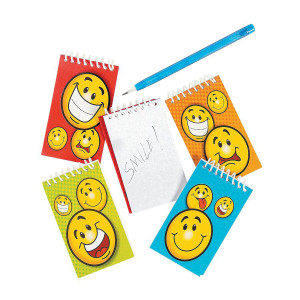 Smiley Face Notepads-12 Pack