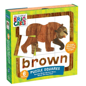 Eric Carle Brown Bear, Brown Bear Puzzle Squares