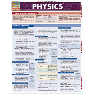Physics 3-Panel Laminated Guide
