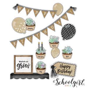 Simply Stylish Birthday Bulletin Board