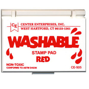 Red Washable Stamp Pad