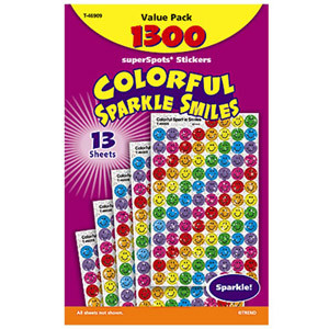 Colorful Sparkle Smile Stickers