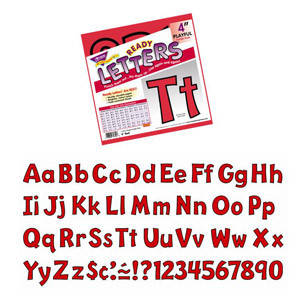 """Red 4"""" Playful Letters"""