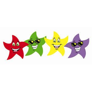 Colored Star Smile Stickers