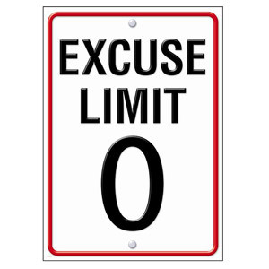 Excuse Limit Poster