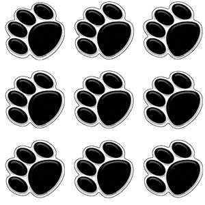 Paw Prints Black Mini Cut-Outs