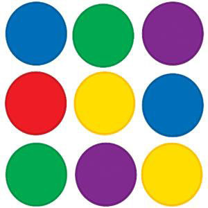 Colorful Circles Mini Cut-Outs