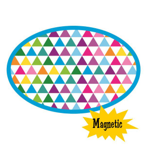 Color Triangles Magnetic Whiteboard Eraser