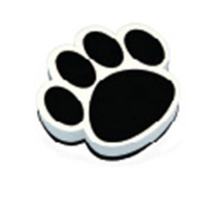 Black Paw Print Magnetic Whiteboard Eraser