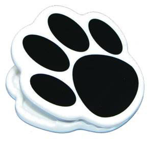 Black Paw Print Magnet Clip