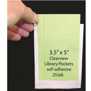 Clear Adhesive Library Pockets