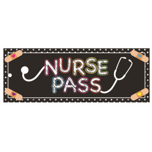 Bandaid Nurse Hall Pass