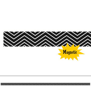 Black Chevron Mini Magi Strip