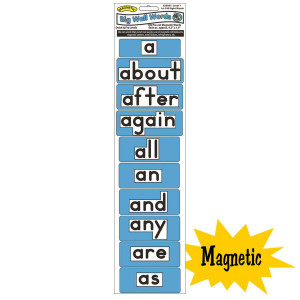 Magnetic Big Wall Words-1st 100 Words, Level 1