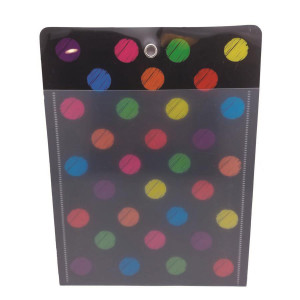 Chalk Dots Large Poly Pocket
