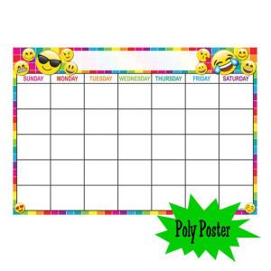 Emoji Calendar Poly Small Poster