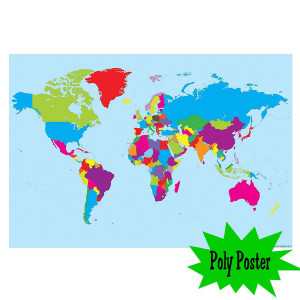World Map Poly Small Poster