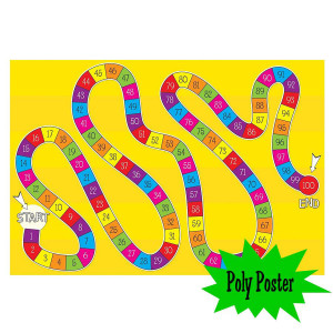 Numbered Game Poly Small Poster