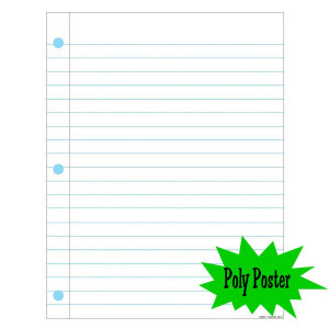 Notebook Paper Poly Poster