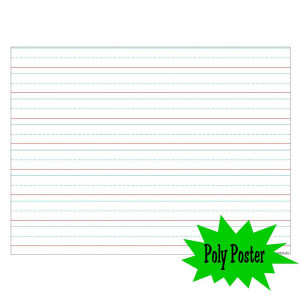 Handwriting Paper Poly Poster