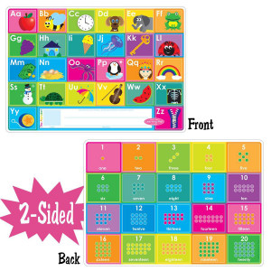Alphabet & Numbers Smart Poly 2-Sided Learning Mat