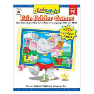Colorful File Folder Games Book Pre-K