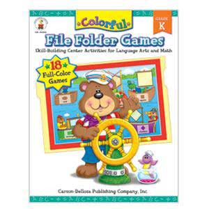 Colorful File Folder Games Book-K