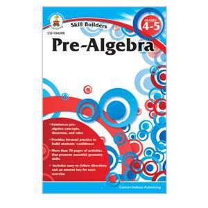 Pre-Algebra Skill Builders Workbook-4-5