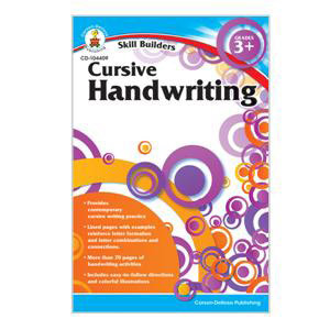Cursive Handwriting Skill Builders Workbook-3+