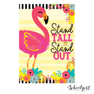 Flamingo Stand Tall Stand Out Small Poster
