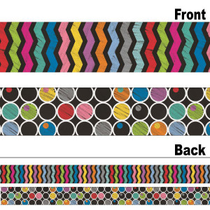 Colorful Chalkboard Straight 2-Sided Border
