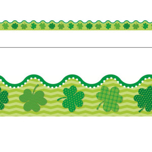St Patrick's Day Shamrock Border
