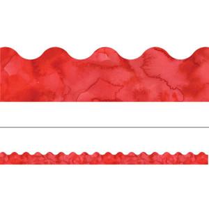 Watercolor Red Border