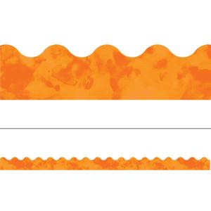 Watercolor Orange Border
