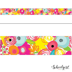 Simply Stylish Tropical Floral Border