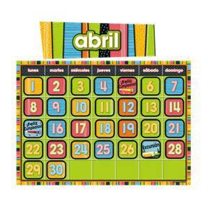 Stylin' Stripes Spanish Calendar Bulletin Board