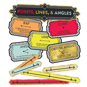 Points, Lines & Angles Mini Bulletin Board