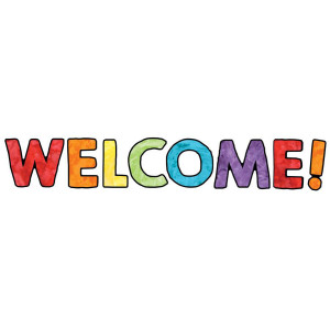 Watercolor Welcome Bulletin Board