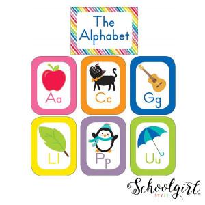 Schoolgirl Style Alphabet Cards Bulletin Board