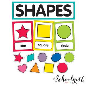 Schoolgirl Style Shape Cards Mini Bulletin Board