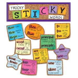Tricky Sticky Words Mini Bulletin Board