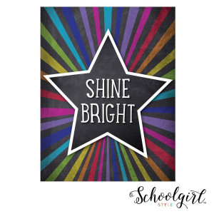 Star Shine Bright Poster