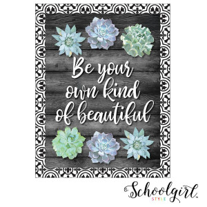 Simply Stylish Be Your Own Beautiful Poster