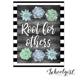 Simply Stylish Root for Others Poster