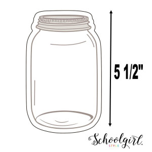 Industrial Chic Mason Jars Cut-Outs