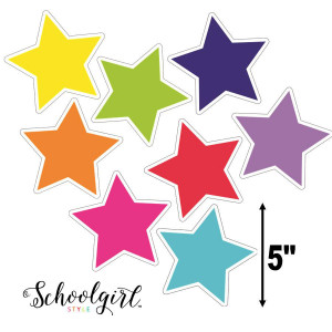 Schoolgirl Style Star Color Stars Cut-Outs