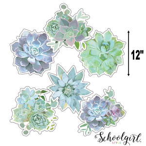 Simply Stylish Succulents Extra Large Cut-Outs