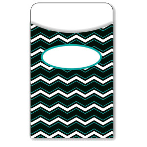 Black, White & Bold Chevron Library Pockets